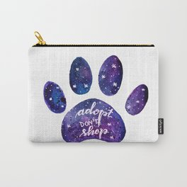 Adopt don't shop galaxy paw - purple Carry-All Pouch