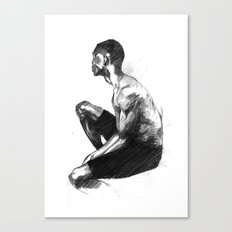 Seated Guy Canvas Print