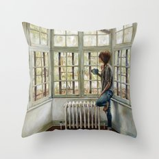 Front Window Throw Pillow