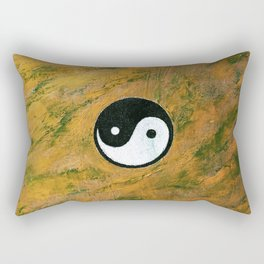 Yin Yang Stone Rectangular Pillow