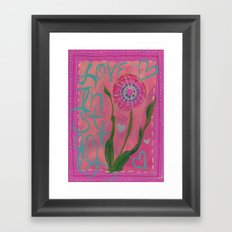 Love Instantly Framed Art Print