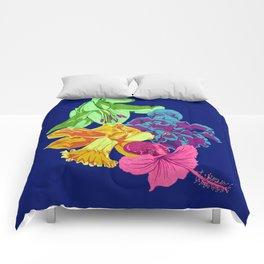 Octopus Flower Garden Comforters