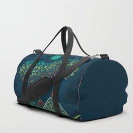 Retro trees Duffle Bag