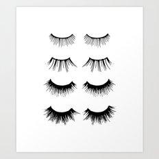 Beauty Lashes Art Print