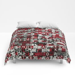 Paradox Network (P/D3 Glitch Collage Studies) Comforters