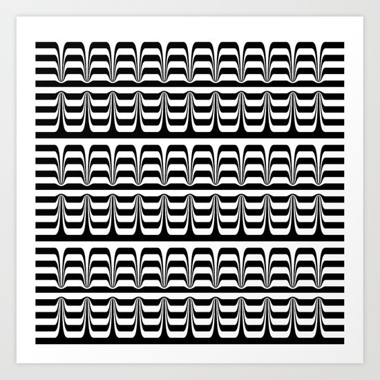 Techno Zebra Art Print