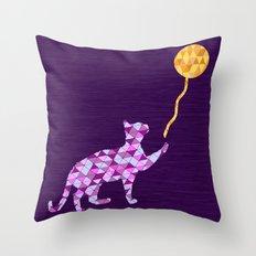 Cat & Ball 3 Throw Pillow