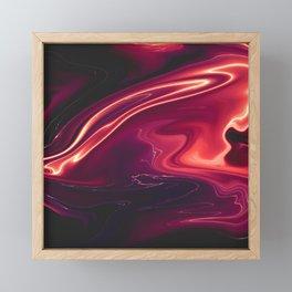 Siren - Marble Pattern Framed Mini Art Print