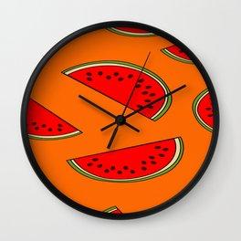 Melon fruit pattern Wall Clock