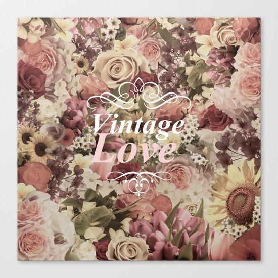 VINTAGE LOVE  Canvas Print