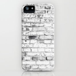 Withe brick wall iPhone Case