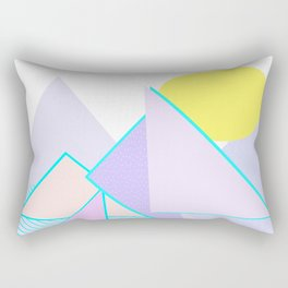 Hello Mountains - Lavender Hills Rectangular Pillow