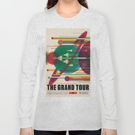 NASA Retro Space Travel Poster The Grand Tour Long Sleeve T-shirt
