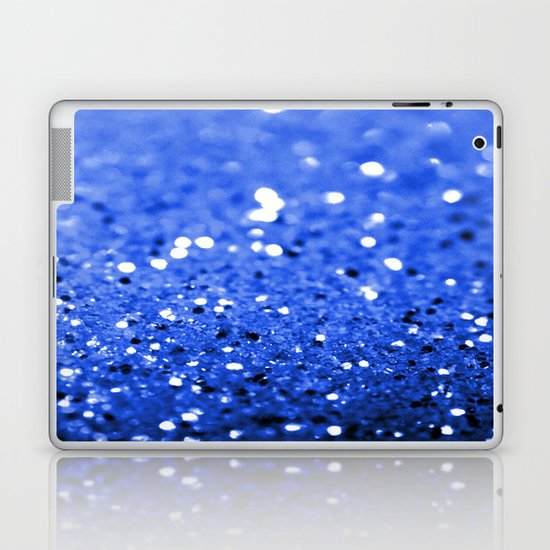 Glitter Blue Laptop & iPad Skin