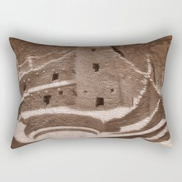 The Cliff Dwellers - Legends Of America Rectangular Pillow
