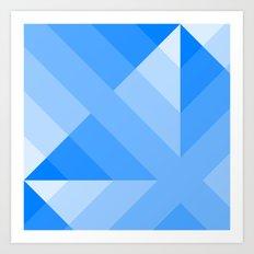 Blue Gradient abstract Art Print