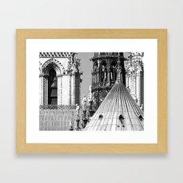 Notre Dame Roofscape Framed Art Print
