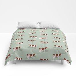 Red & White Holsteins // Sage Comforters