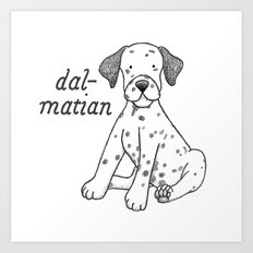 Dog Breeds: Dalmation Art Print