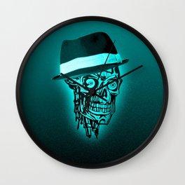 Elegant Skull with hat,mint Wall Clock
