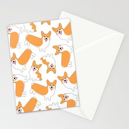 Fun Pembroke Welsh Corgi Pattern Stationery Cards