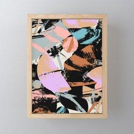 Mid-Century Abstract Brushstrokes Framed Mini Art Print