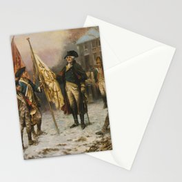 Washington Inspecting The Captured Colors After The Battle Of Trenton Stationery Cards