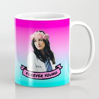 forever young Mugs featuring Forever Young by drmedusagrey