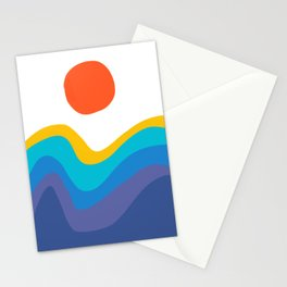 Abstract Y Minimum Colorful Pattern Stationery Cards