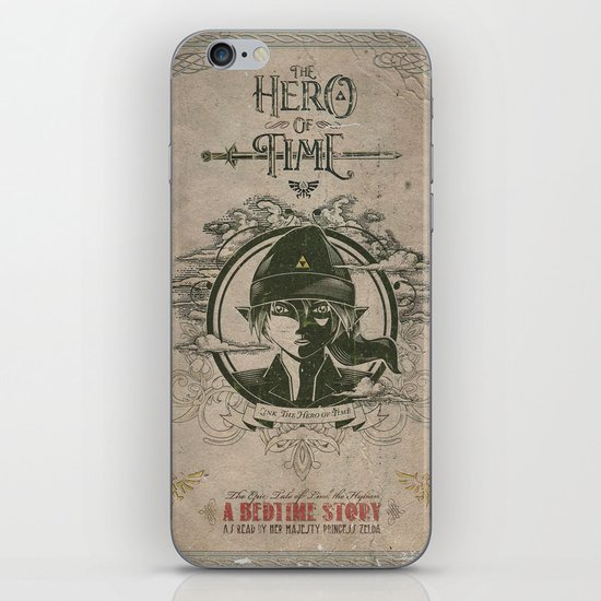 Legend of Zelda Link the Hero of Time Vintage Book Cover iPhone & iPod Skin