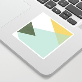 Geometrics - citrus & concrete Sticker