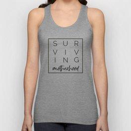Surviving Motherhood Square Unisex Tank Top