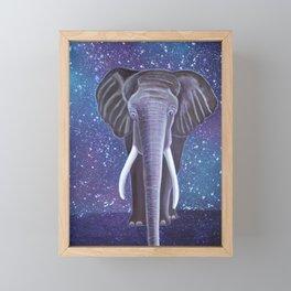 Elephant painting Framed Mini Art Print