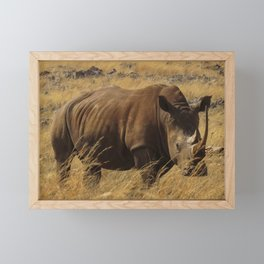 Rhinoceros Framed Mini Art Print