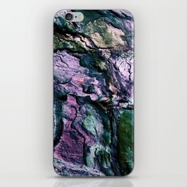 Textured Minerals Teal Green Purple iPhone Skin
