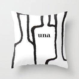Una white Throw Pillow