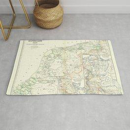Vintage Map - Spruner-Menke Handatlas (1880) - 31 The Low Countries; Lorraine; Friesland Rug