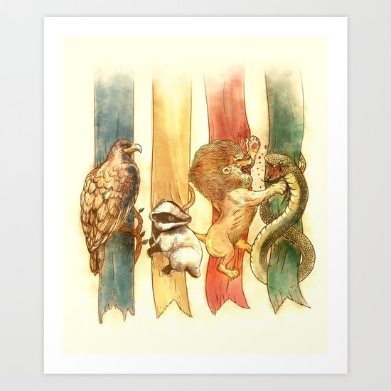 House Brawl Art Print