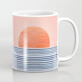 Minimal Sunrise Watercolors Artwork Coffee Mug