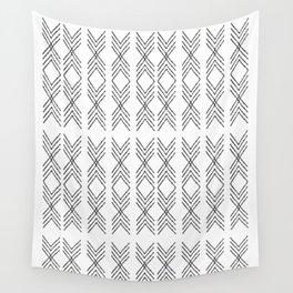 Minimal Tribal Black&White Wall Tapestry
