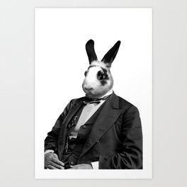 Civil War Rabbit Art Print