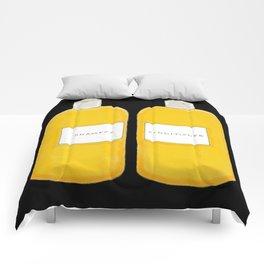 Shampoo & Conditioner (black) Comforters
