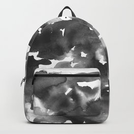 Watercolor Shades of Black and White Backpack