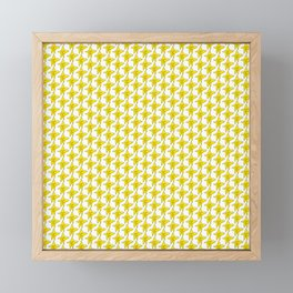 At Least You Tried - Yellow Star Pattern Framed Mini Art Print