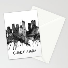 Guadalajara Mexico Skyline BW Stationery Cards