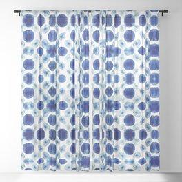Shibori Circles Sheer Curtain