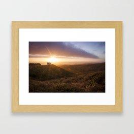Never Stop Sunset  Framed Art Print