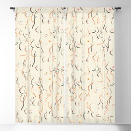 Breasts in Cream Blackout Curtain