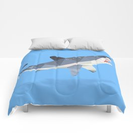 Low Poly Great White Shark Comforters