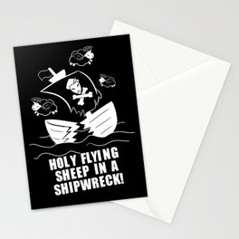 Holy Flying Sheep In A Shipwreck! (For Dark Products) Stationery Cards